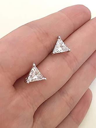 Vivid Brinco Vivid Triangulo em Cristal Folheado a Ródio