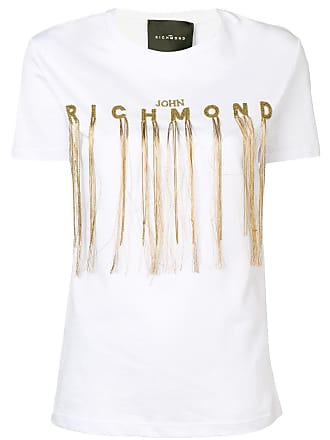 John Richmond Camiseta com logo - Branco