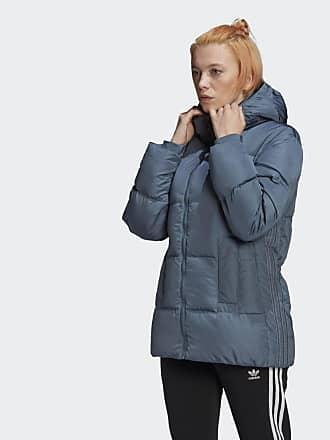 Adidas Originals Grauer Kapuzenpullover mit dreiblättrigem