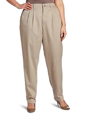 Lee Lee Womens Plus-Size Relaxed Fit Side Elastic Pant, Taupe, 22W Long