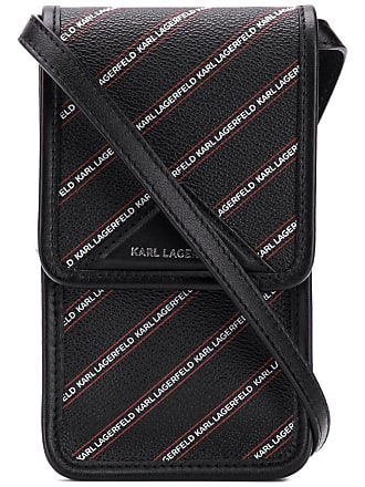 Karl Lagerfeld Bolsa mini com logo - Preto