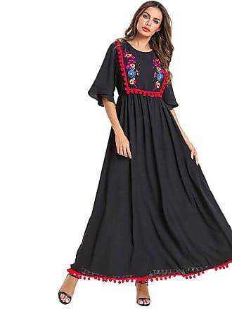 3bec8f323 Siswong Women Robe Muslim Maxi Dress Arabic Islamic Kaftan Long Sleeve  Abaya Ramadan Wedding No Hijab