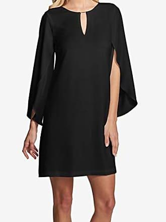 Kensie Dress Womens Flowy Easy to WEAR Dress, Black, 8
