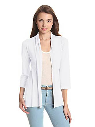 e5365e0b78 Michael Stars Womens Slub 3/4 Sleeve Shawl Neck Cardigan, White, One Size