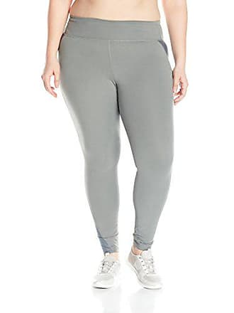 Fruit Of The Loom Fit for Me by Fruit of the Loom Womens Plus Size Breathable Mesh Pieced Legging, Flat Grey, 4X