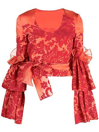 Rosie Assoulin Blusa com camadas - Vermelho