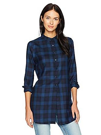 Pendleton Womens Whitney Navy/Blue Block Plaid Tunic, M