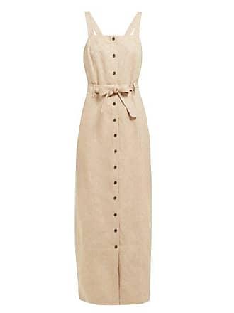 Mara Hoffman Serena Checked Linen Dress - Womens - Beige