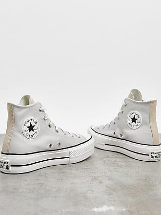 Converse Chuck Taylor Lift - Sneaker mit Plateau-Sohle in gebrochenem Weiß und Beige