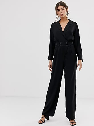 Y.A.S jumpsuit with button waist - Black