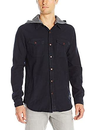 O'Neill Mens Flatts Long Sleeve Shirt, Navy, X-Large