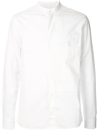 Qasimi mandarin collar shirt - White