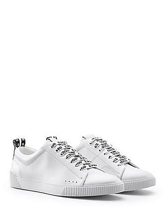 0be445236ae HUGO BOSS Baskets basses en cuir avec lacets à logo150.00