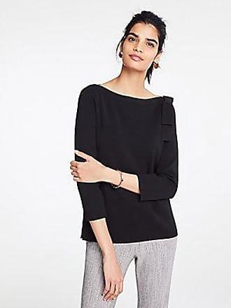 ANN TAYLOR Petite Shoulder Bow Boatneck Sweater