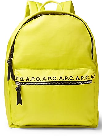 A.P.C. Logo And Leather-trimmed Ripstop Backpack - Yellow