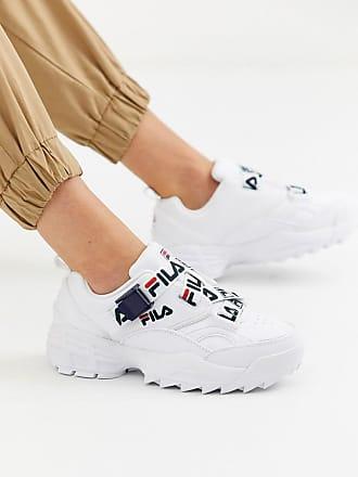 Fila Fast Charge - Sneakers bianche con chiusura a strappo con logo-Bianco