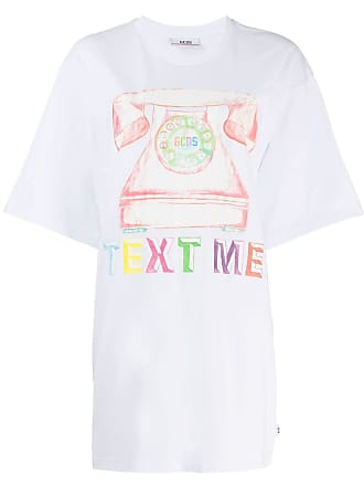 GCDS printed oversized T-shirt - White