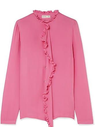 2d4928bc5d50eb Etro Ruffle-trimmed Silk Crepe De Chine Blouse - Pink
