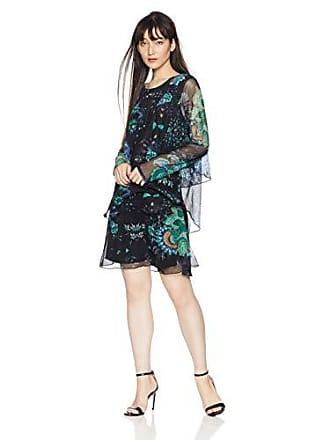 625a9ed72b7a4b Desigual Kurzes Kleid Woman Vest Machine 18WWVK97 XS Schwarz