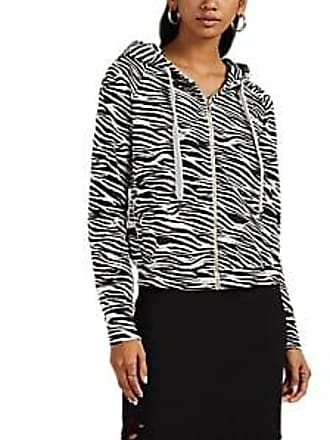 NSF Womens Chada Tiger-Print Cotton Zip-Front Hoodie Size XS