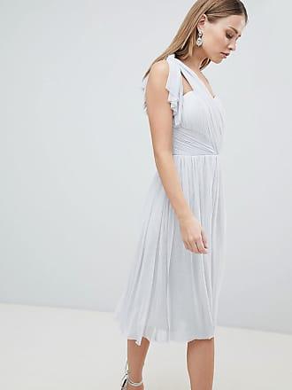 Lipsy Multiway Midi Chiffon Dress - Silver