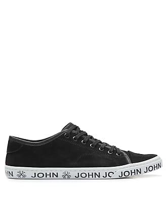John John TÊNIS MASCULINO HEAVEN BLACK SUEDE - PRETO