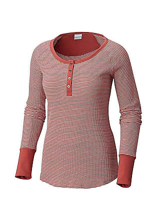 ace895209154 Columbia Womens Along The Gorge Thermal Henley - Small - Rose Dust