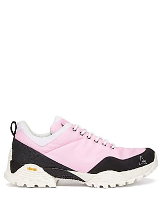 Roa Oblique Tread Sole Ripstop Trainers - Mens - Pink