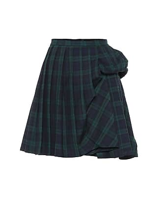 Y / Project Checked wool-blend miniskirt
