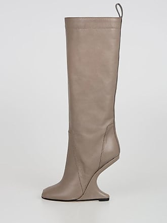 Rick Owens Stivali CYCLOPS CANTILEVERED KNEE HIGH BOOT Open Toe taglia 37 1eba489236b