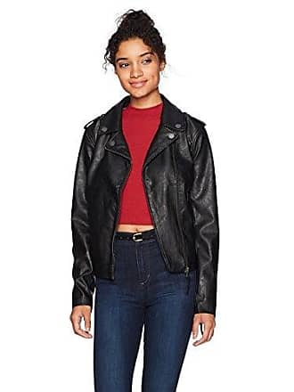 Roxy Womens Midnight Ride Faux Leather Jacket, Anthracite, M