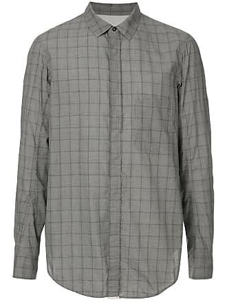 Ziggy Chen checked shirt - Grey