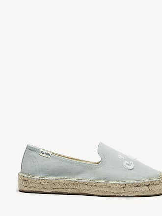 Soludos Womens Cest La Vie Smoking Slippers Chambray Size 8 Canvas From Sole Society
