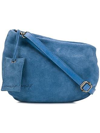 Marsèll Bolsa tiracolo de couro - Azul