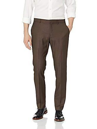Perry Ellis Portfolio Very Slim Nailhead Mens Dress Pant, rain Drum, 30x29