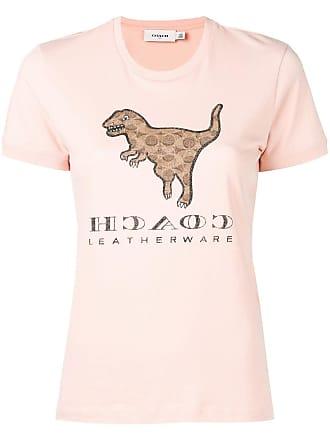 Coach dinosaur print T-shirt - Pink