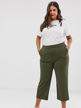 Vero Moda Curve wideleg pants - Green