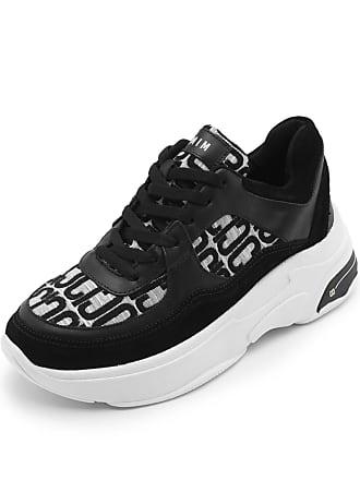 Carmim Tênis Couro Carmim Dad Sneaker Preto