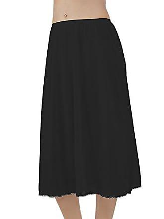 Vanity Fair Womens Plus Size Daywear Solutions Half Slip 11711, Midnight Black, Large (28 Length)