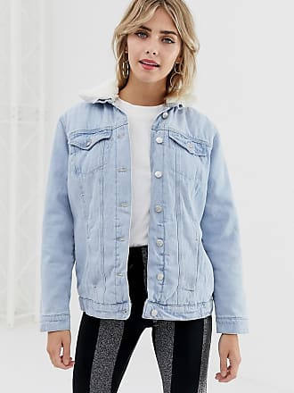 New Look fleece lined denim jacket - Blue
