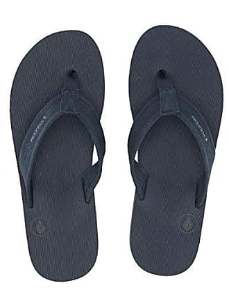 Volcom Driftin Leather Sandal (Slate/Blue) Mens Shoes
