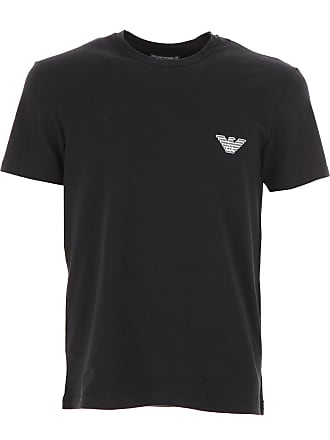 Emporio Armani T-Shirt for Men On Sale, Black, Cotton, 2017, S (EU 46) L (EU 50)
