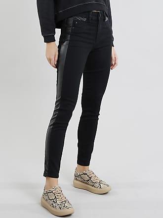 Sawary Calça Jeans Feminina Sawary Cigarrete com Recorte Preta