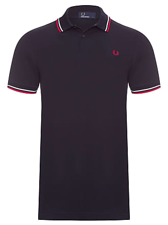 42bb25619b802 Fred Perry POLO MASCULINA TWIN TIPPED - PRETO