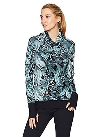 Maaji Womens Fashion Velour Sweatshirt, Evergreen Wild Dark Green, M