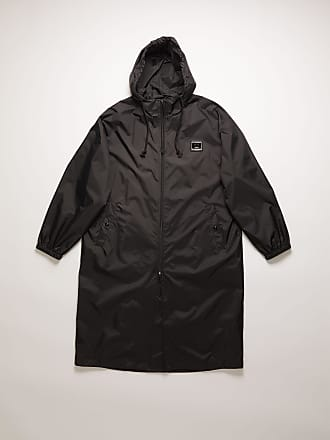 Acne Studios FA-UX-OUTW000028 Black Face plaque technical raincoat