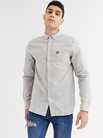 Lyle & Scott cotton linen shirt-Grey