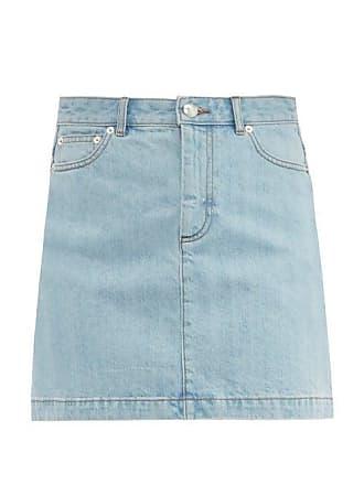 A.P.C. A.p.c. - Fanny Denim Mini Skirt - Womens - Light Denim