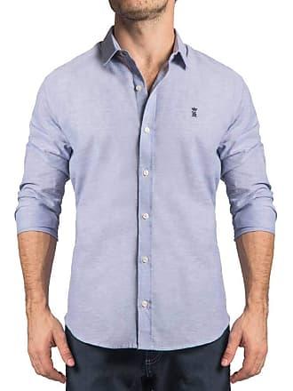 Sergio K. Camisa Linho Rústico Azul