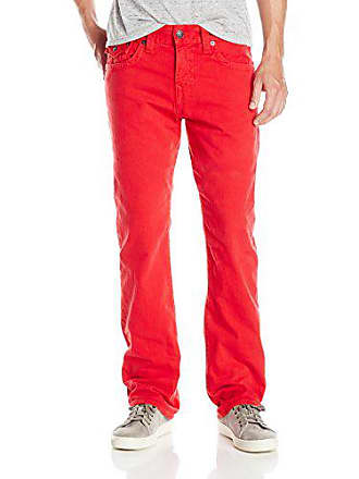 True Religion Mens Ricky Relaxed Straight with Flaps, True Red 34